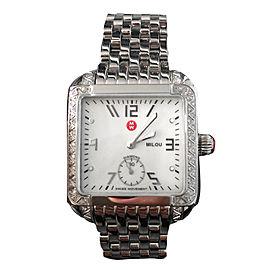 Michele Milou MWW15A000001 Stainless Steel & Diamonds 33mm Womens Watch