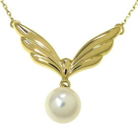 Mikimoto 18K Yellow Gold & Pearl Pendant Necklace