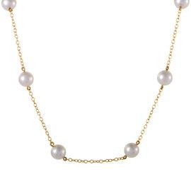Mikimoto 18K Yellow Gold Pearls Choker Necklace