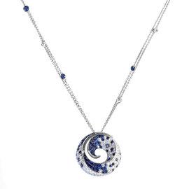 Miiori 18K White Gold Diamond & Sapphire Pendant Necklace