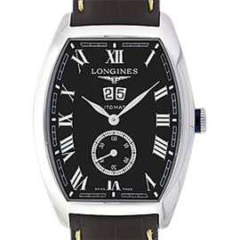 Longines Evidenza L2.670.4.515 Stainless Steel Tonneau 39mm Strap Watch