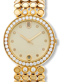 "Image of ""Harry Winston 18K Yellow Gold Diamond Evening Mens Watch"""