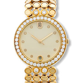 Harry Winston 18K Yellow Gold Diamond Evening Mens Watch