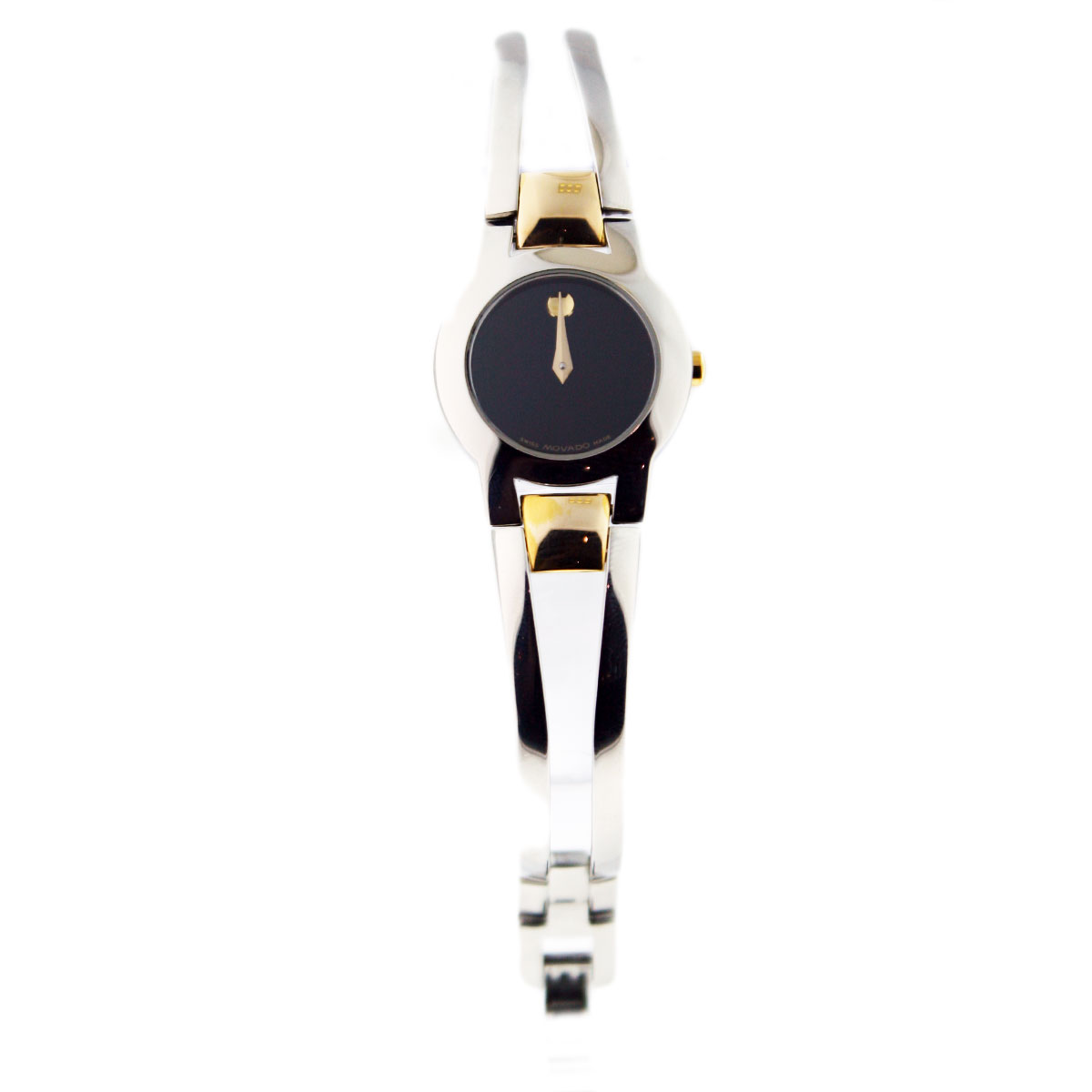 "Image of ""Movado Amorosa Stainless Steel and 18K Yellow Gold 22mm Womens Watch"""