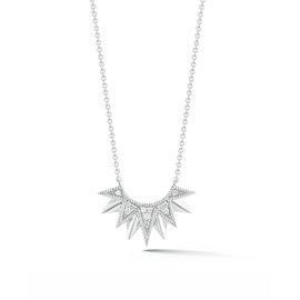 Half Starburst Diamond Necklace
