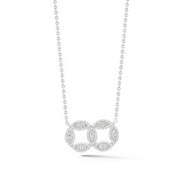 Double Marquise Circle Necklace