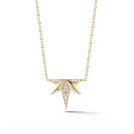 Five Point Starburst Diamond Necklace
