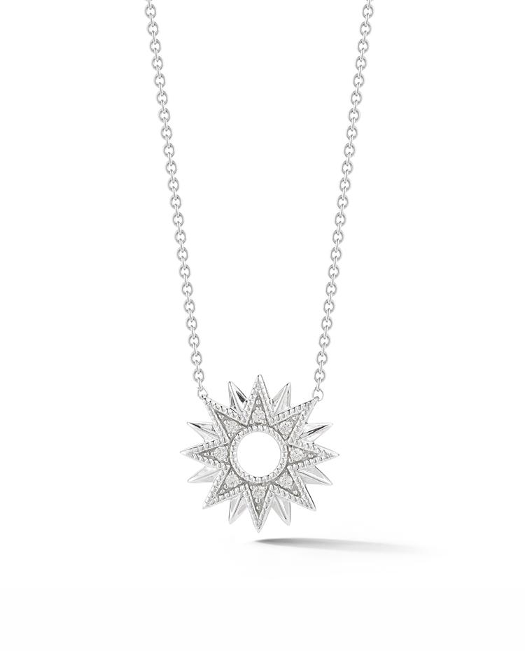 "Image of ""Cutout Starburst Diamond Necklace"""