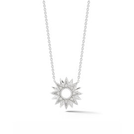 Cutout Starburst Diamond Necklace