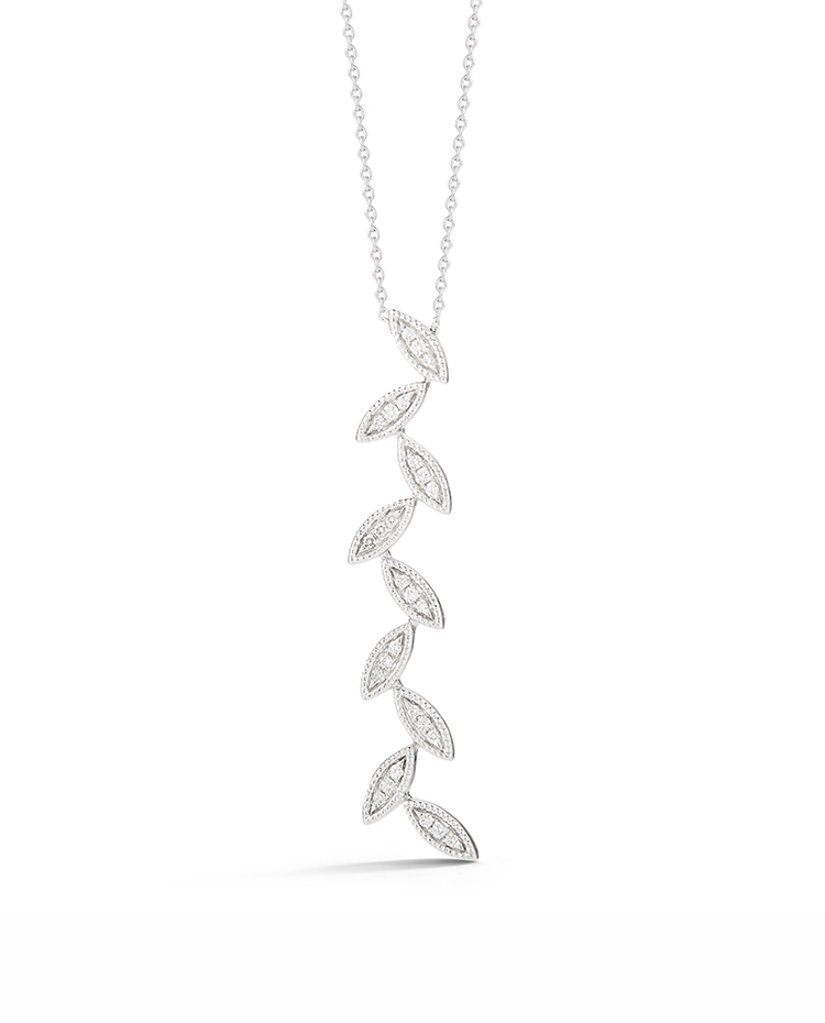 "Image of ""Alternating Diamond Marquise Pendant"""