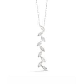 Alternating Diamond Marquise Pendant