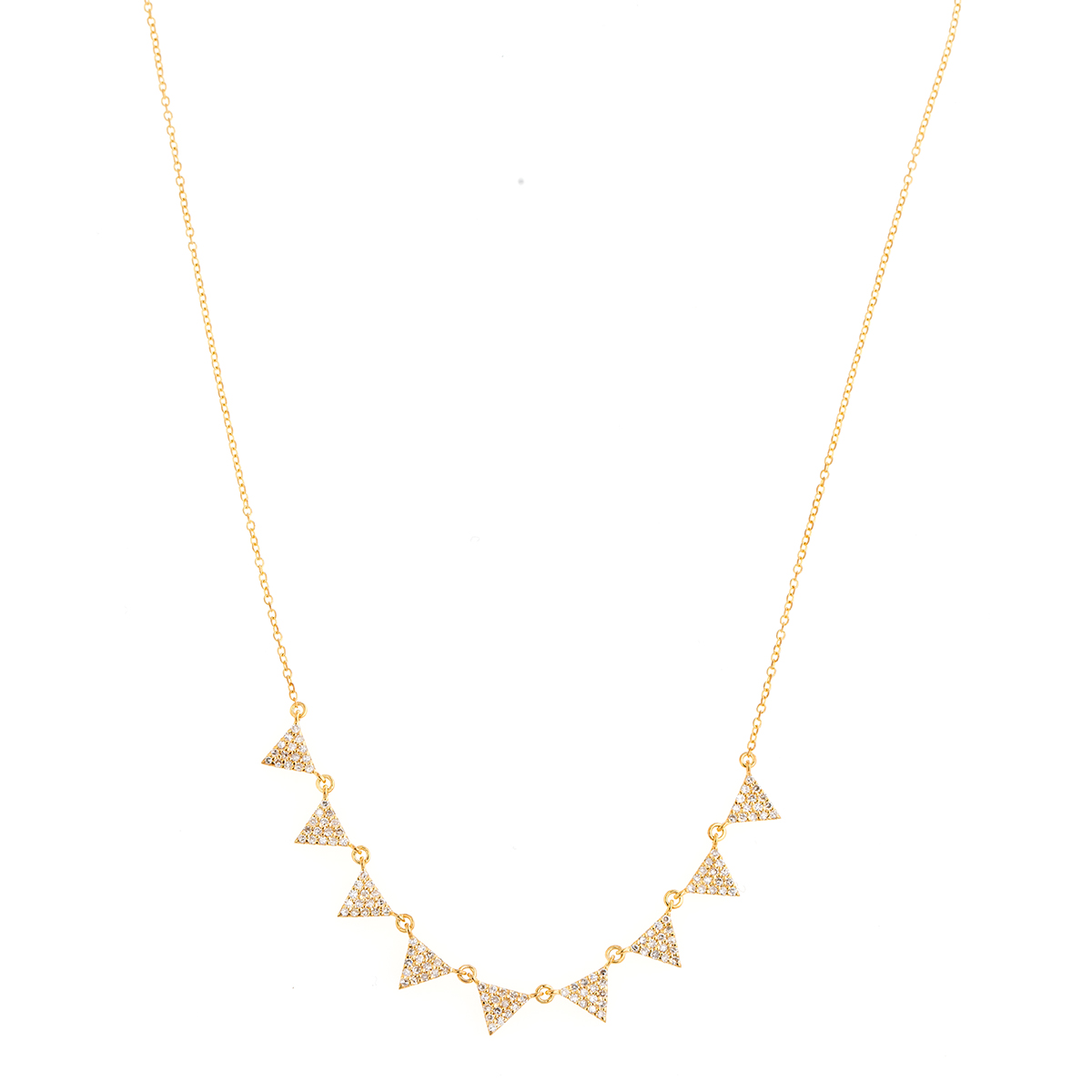 "Image of ""Jordan Scott Design Multi Pave Triangle Necklace"""