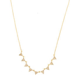 Jordan Scott Design Multi Pave Triangle Necklace