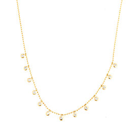 Jordan Scott Bead Chain With Diamond Bezel Drops