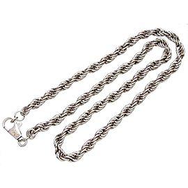 Chanel CC Logo Silver Tone Metal Chain Necklace