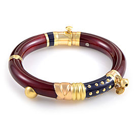 Nouvelle Bague 18K Multi-Gold Enamel Bangle