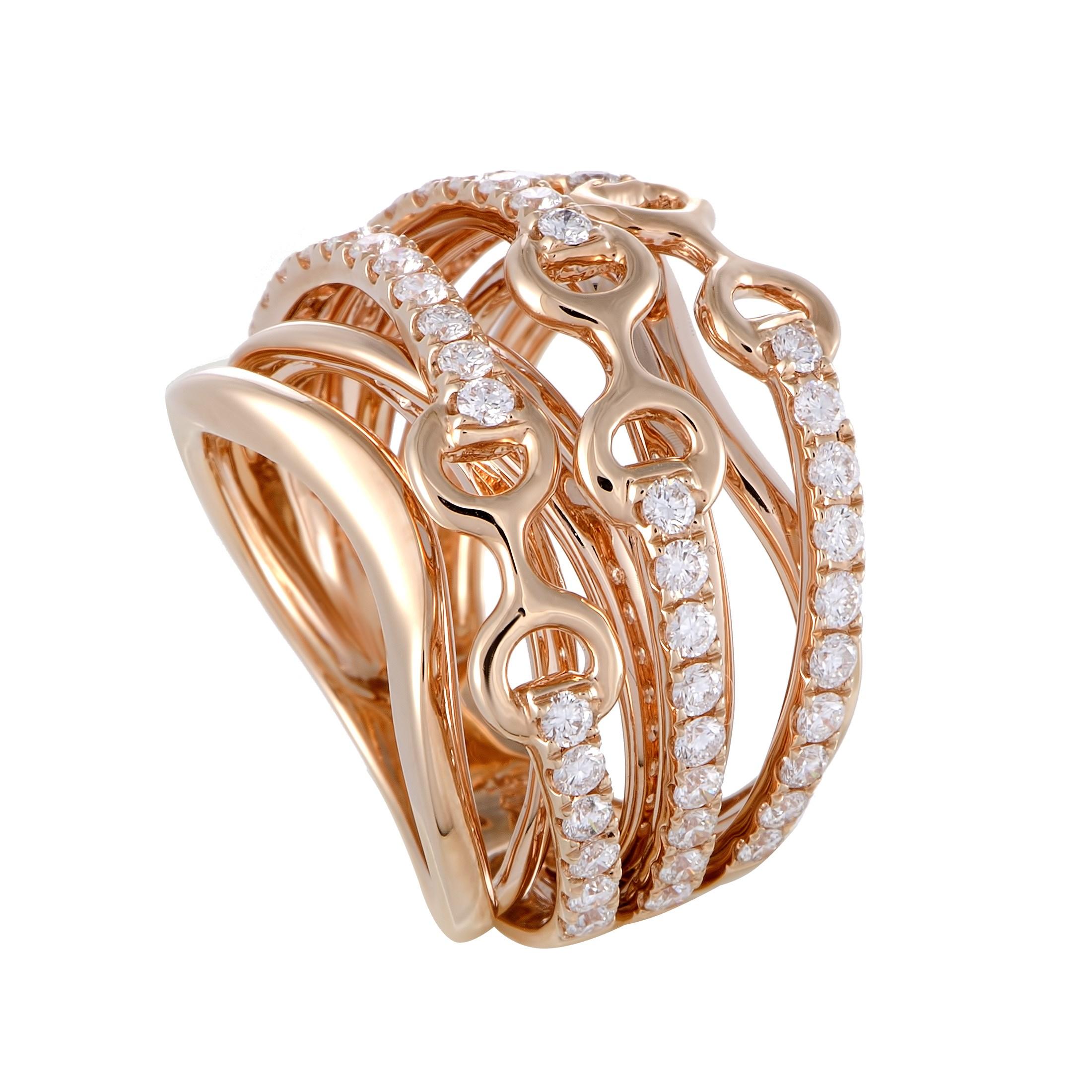 "Image of ""Odelia 18K Rose Gold Diamond Ring Size 7"""