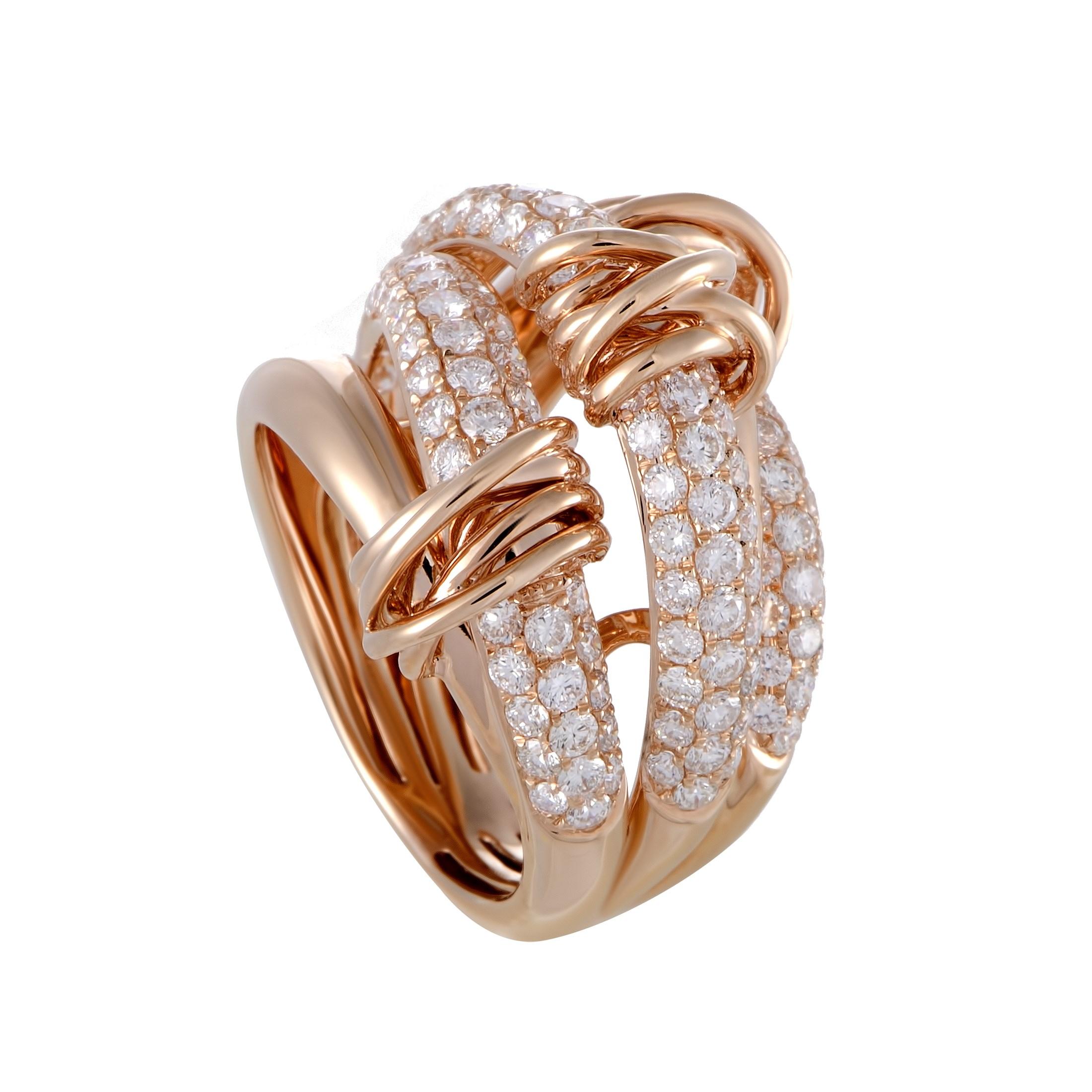 "Image of ""Odelia 18K Rose Gold Diamond Ring Size 7.75"""