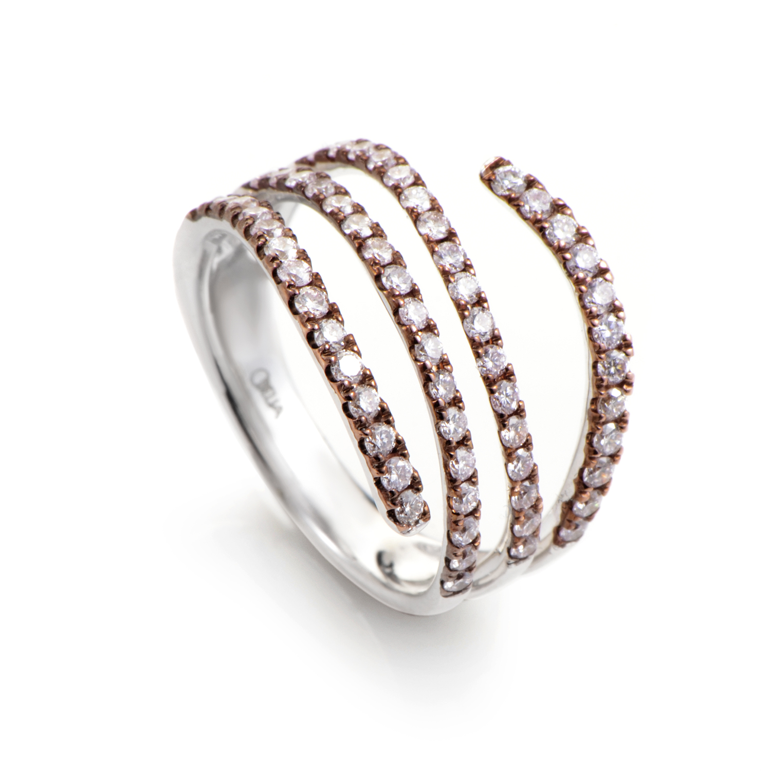 "Image of ""Odelia 18K Multi-Tone Gold & Diamond Band Ring"""