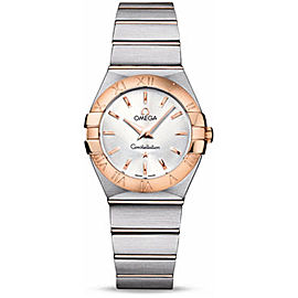 Omega Constellation 12320276005001 18K Rose Gold Stainless Steel 27mm Watch