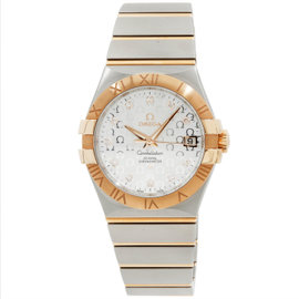 Omega Constellation 123.20.35.20.52.003 Stainless Steel & 18K Rose Gold Womens Watch