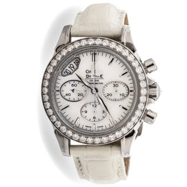 Omega DeVille Chronograph 422.18.35.50.05.002 Stainless Steel Womens Watch