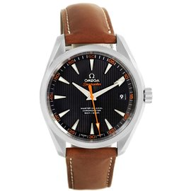 Omega Aqua Terra 231.12.42.21.01.002 Stainless Steel & Leather Automatic 41.5mm Mens Watch