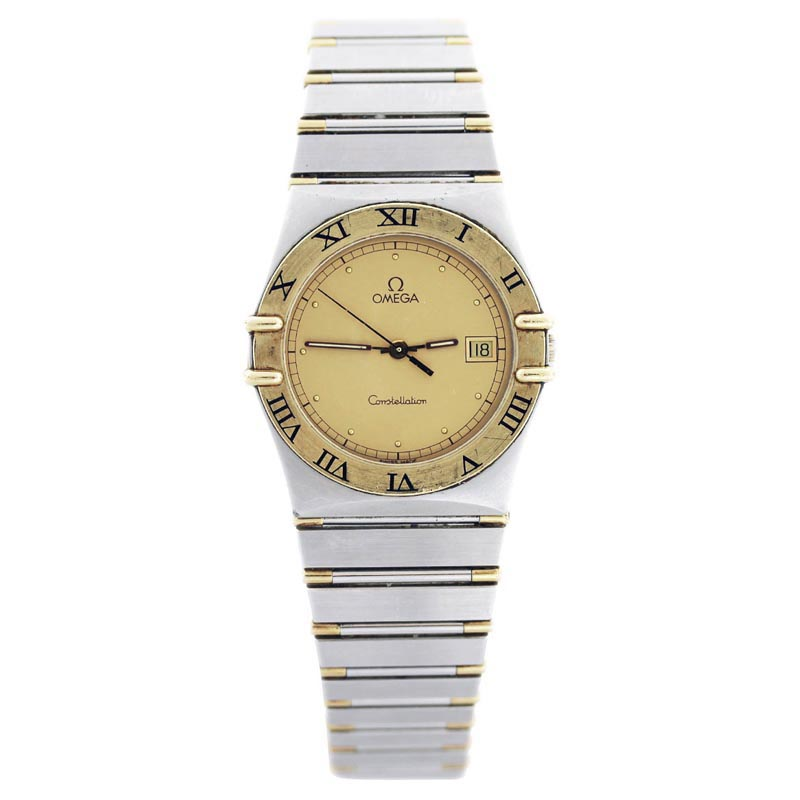 "Image of ""Omega Constellation 18K Yellow Gold and Stainless Steel 34mm Mens"""