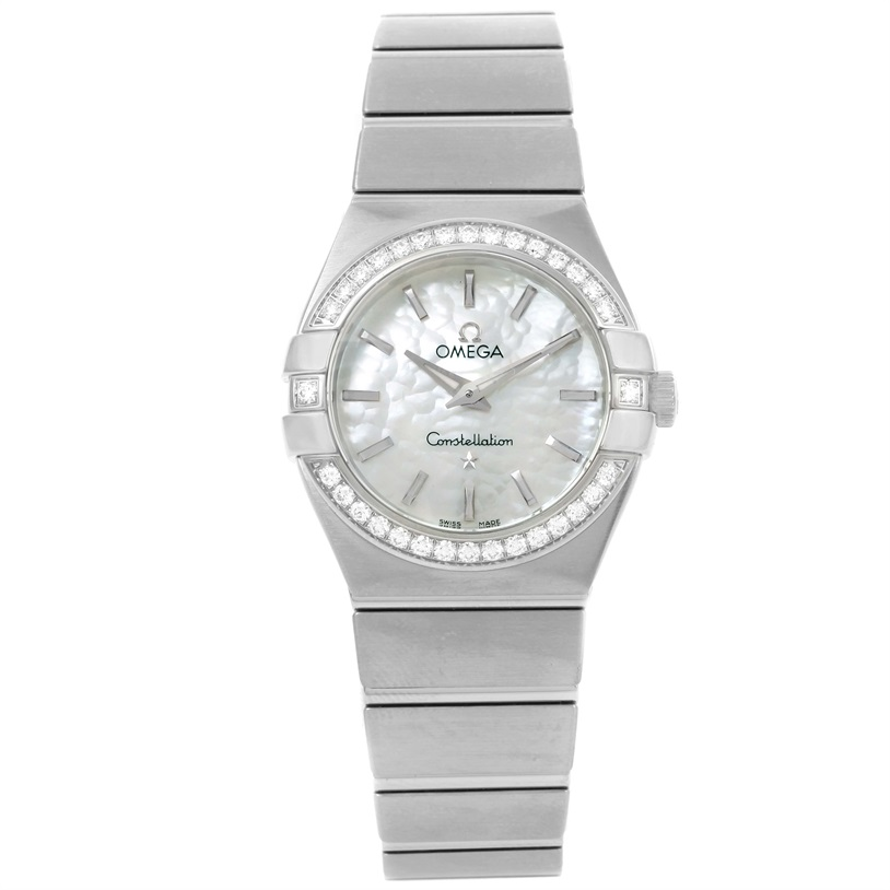 "Image of ""Omega Constellation 123.15.27.60.05.001 Stainless Steel wDiamond"""