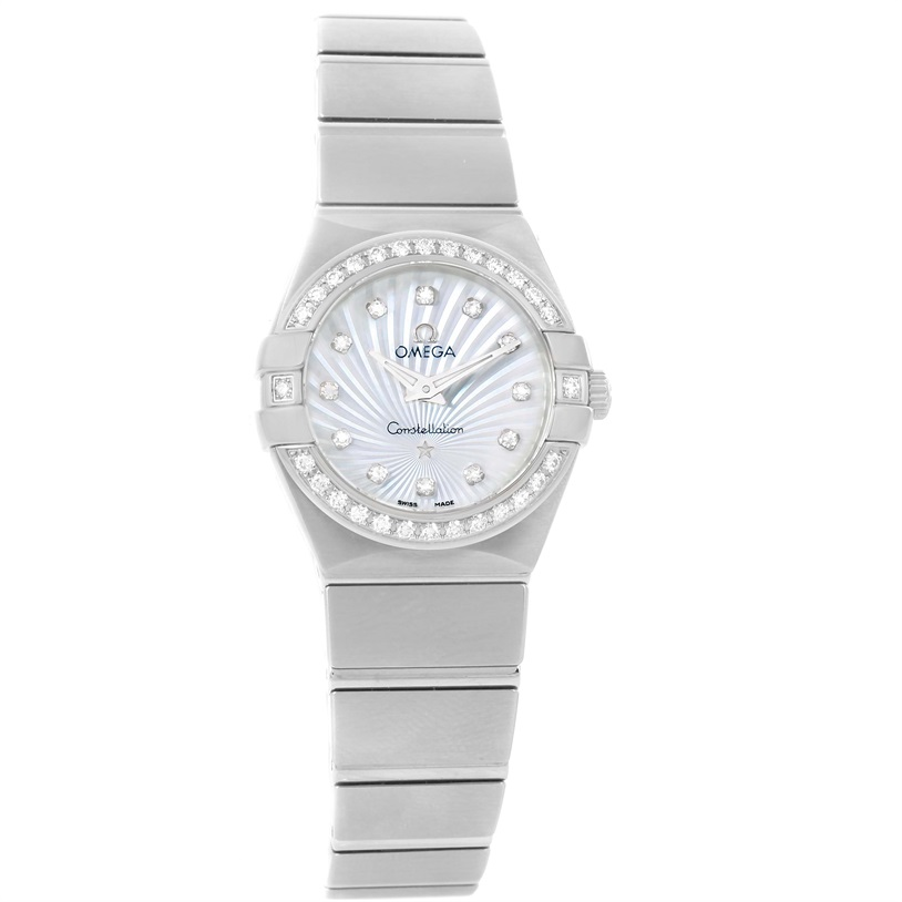 "Image of ""Omega Constellation 123.15.24.60.55.004 Stainless Steel wDiamond"""