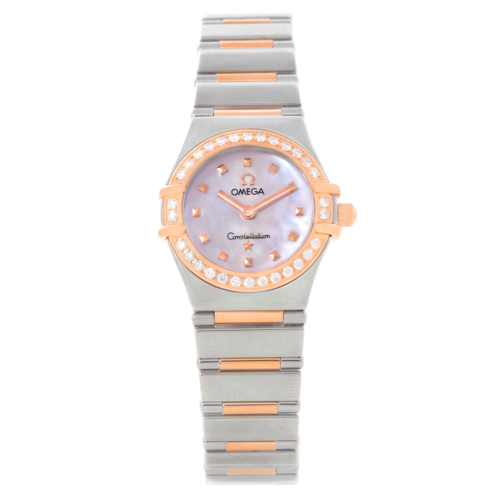 "Image of ""Omega Constellation 1368.71.00 Stainless Steel 18K Rose Gold Diamond"""