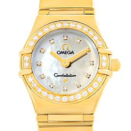 Omega Constellation 1164.75.00 18K Yellow Gold 22.5mm Womens Watch