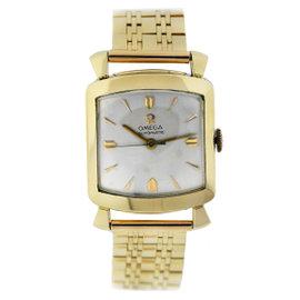 Omega 14K Gold w/ Longines 14K Gold Bracelet Vintage Watch