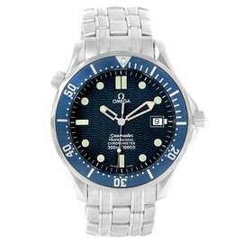 Omega Seamaster 2531.80 Stainless Steel Blue Wave Dial Automatic 41mm Mens Watch