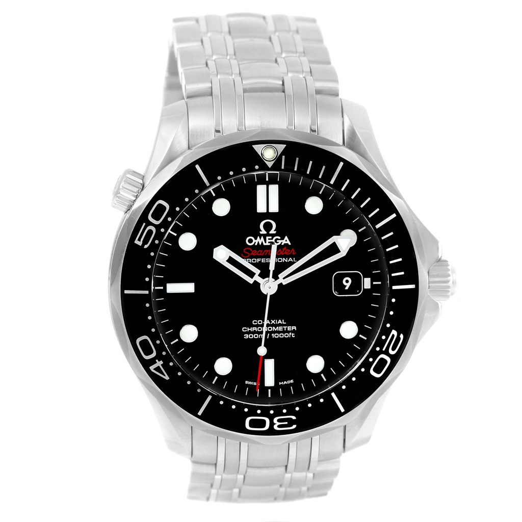 "Image of ""Omega Seamaster 212.30.41.20.01.003 Stainless Steel Black Dial"""