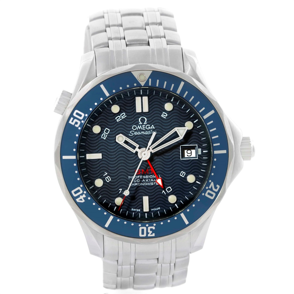 """Image of """"Omega Seamaster 2535.80.00 Bond Stainless Steel 300M GMT Blue Dial"""""""