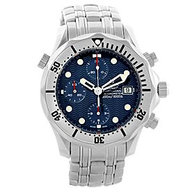 Omega 2598.80.00 Seamaster Chrono Blue Wave Dial Automatic 41.5mm Mens Watch