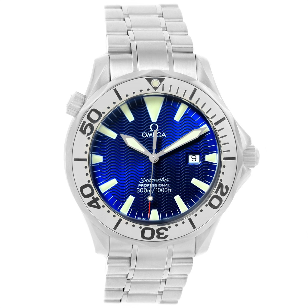 "Image of ""Omega Seamaster 2265.80.00 Stainless Steel & Electric Blue Dial 41mm"""