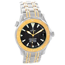 Omega Seamaster Stainless Steel & 18K Yellow Gold Black Dial Automatic 36mm Mens Watch