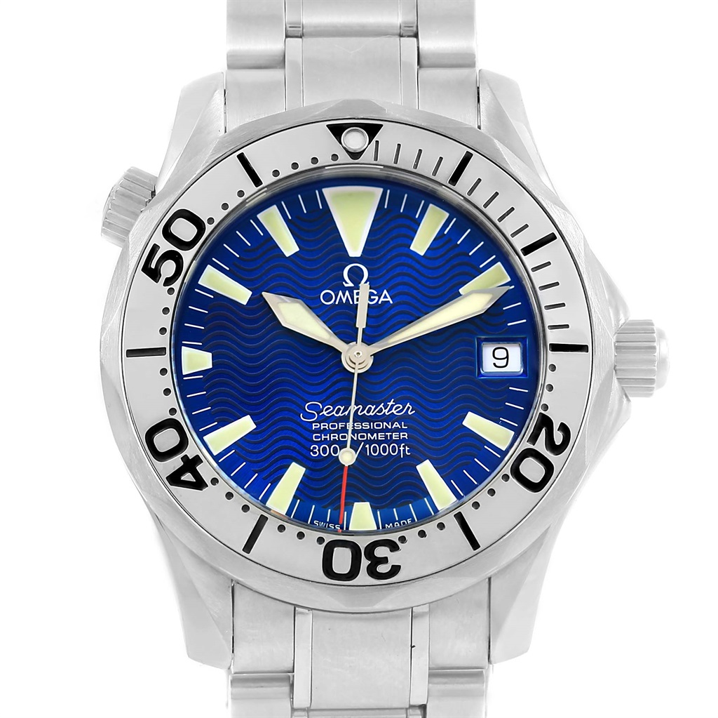 """Image of """"Omega Seamaster 2554.80.00 Stainless Steel & Electric Blue Dial"""""""