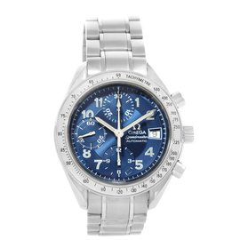 Omega Speedmaster 3513.82.00 Stainless Steel Blue Dial Automatic 39mm Mens Watch