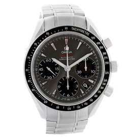 Omega Speedmaster Day Date 323.30.40.40.06.001 Stainless Steel Gray Dial Automatic 40mm Mens Watch