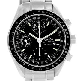 Omega Speedmaster 3520.50.00 Stainless Steel & Black Dial Automatic 39mm Mens Watch
