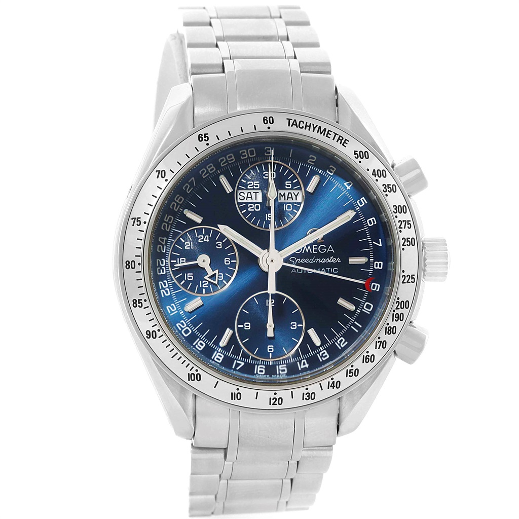 "Image of ""Omega Speedmaster Day-Date 3523.80.00 Stainless Steel Blue Dial"""