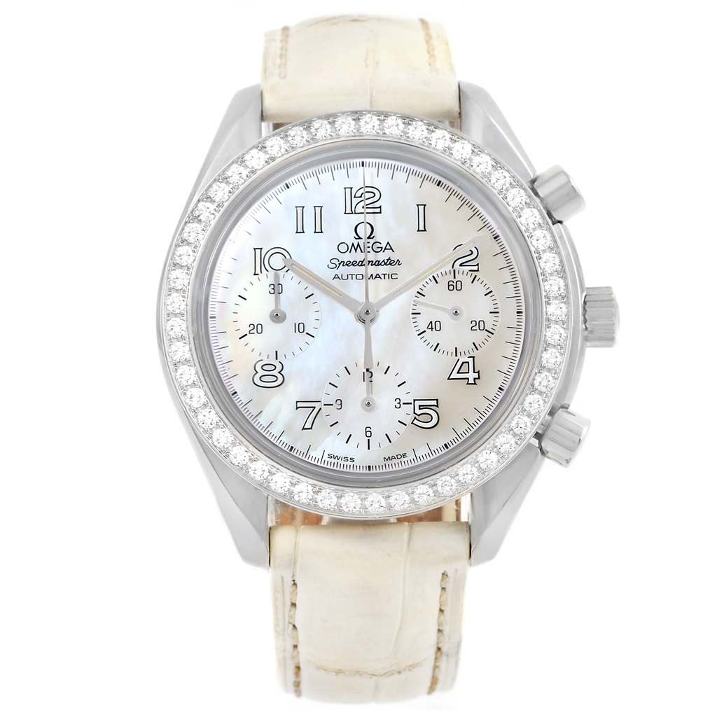 """Image of """"Omega Speedmaster 3815.70.36 Stainless Steel wDiamond MOP Dial"""""""