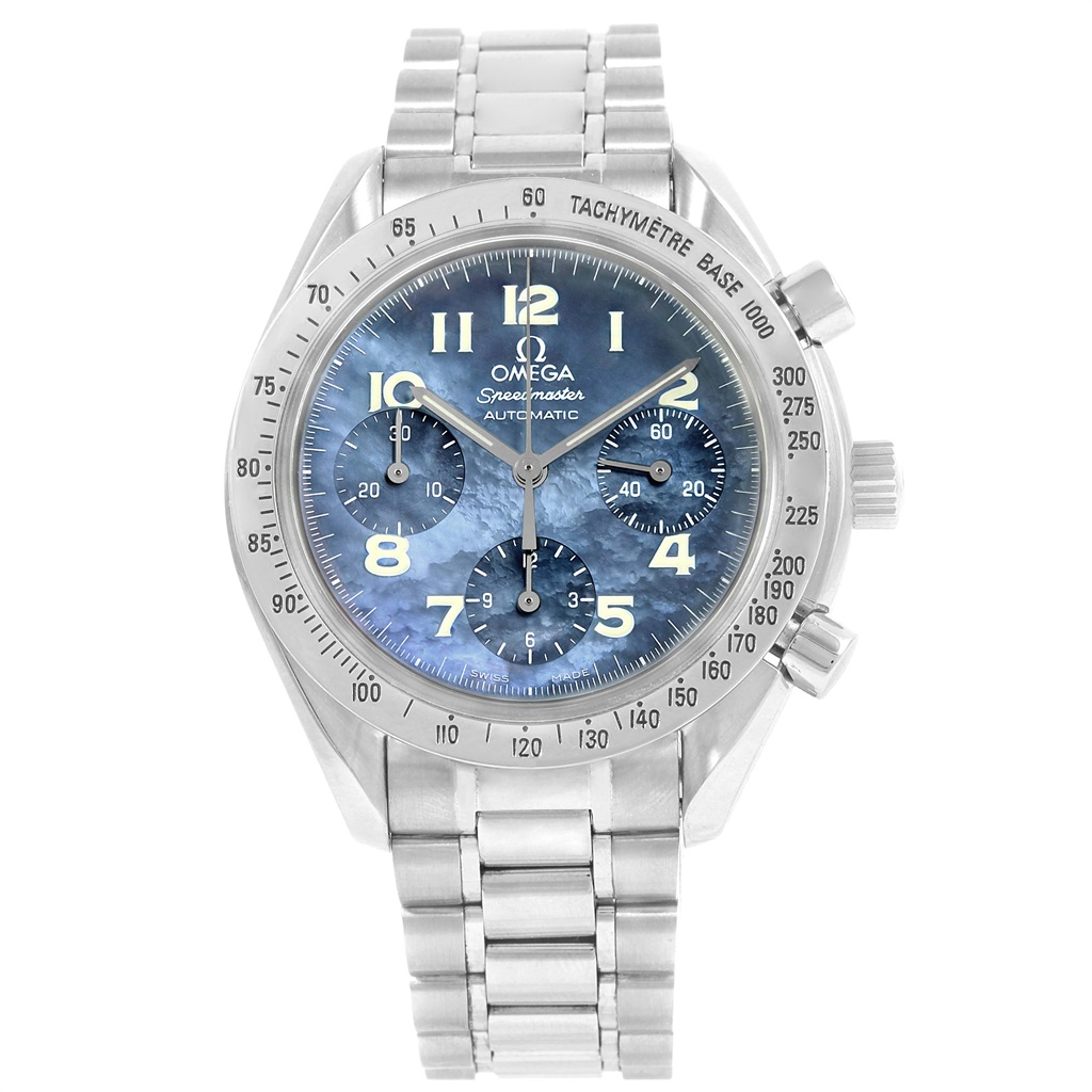 """Image of """"Omega Speedmaster 3502.73.00 Stainless Steel Blue MOP Dial Automatic"""""""