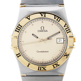 Omega Constellation Stainless Steel And 18K Yellow Gold Mens Watch