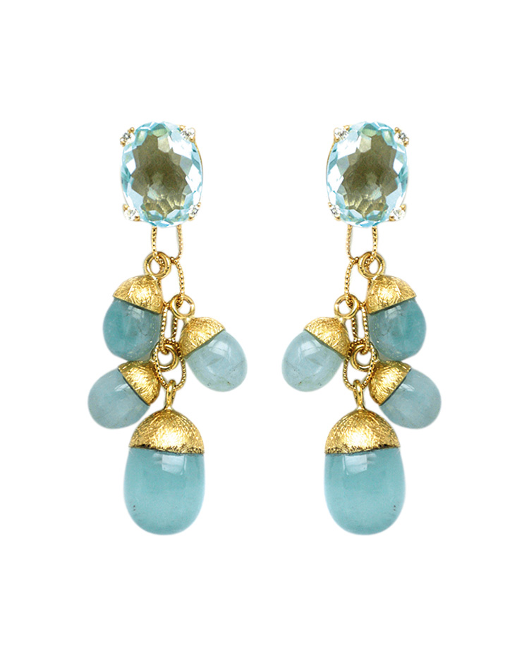 "Image of ""Dancing in the Rain Gold 18kt Earrings"""