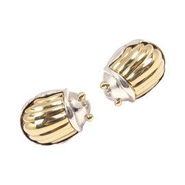 Tiffany & Co. Sterling Silver & 18K Yellow Gold Scarab Earrings