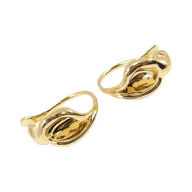 Tiffany & Co. Peretti 18K Yellow Gold Calla Lily Flower Cuff Earrings